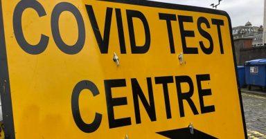 A Covid test centre