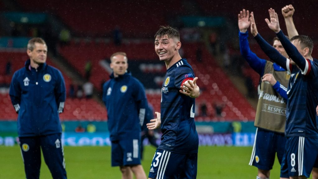 Billy Gilmour was a stand-out player after making his first Scotland start.