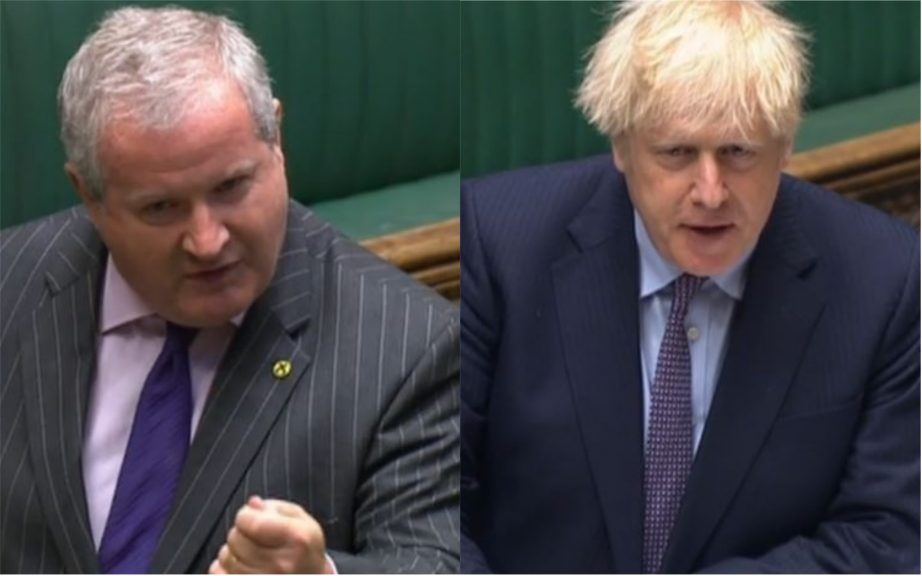Westminster: Ian Blackford challenged Boris Johnson over foreign aid spending at PMQs.