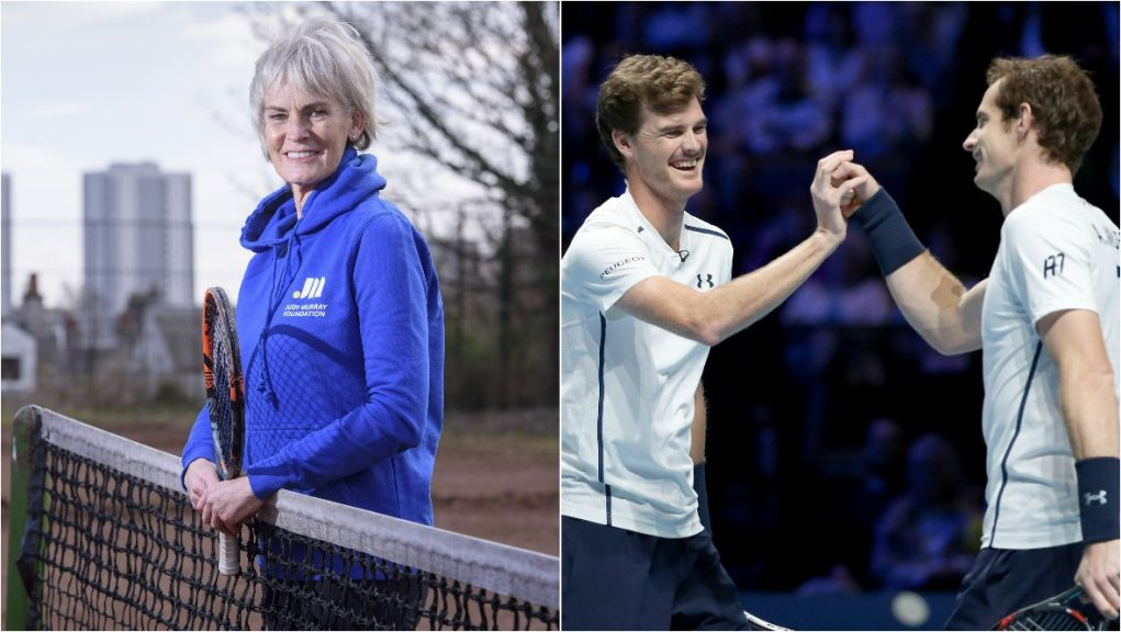 The tennis coach is mother to former world number one Andy Murray and Jamie Murray.