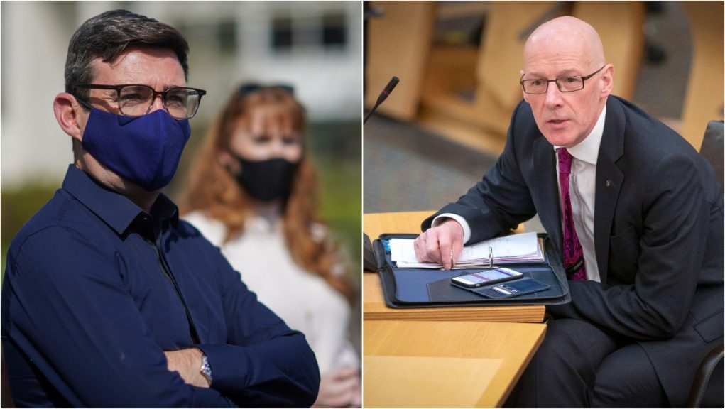 Andy Burnham has accused the Scottish Government of 'hypocrisy' over Greater Manchester travel ban.