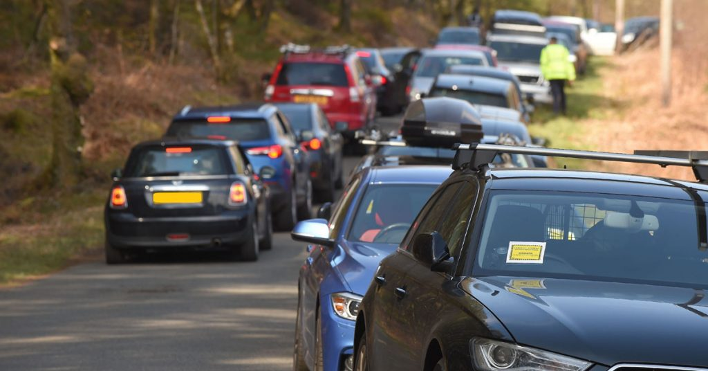 Stirling Council warned visitors to park responsibly and go elsewhere if places are busy.