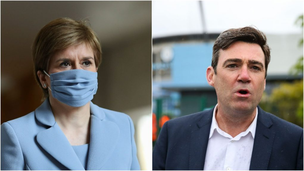 Sturgeon announced on Friday all non-essential travel to Manchester and Salford would be banned from Monday.