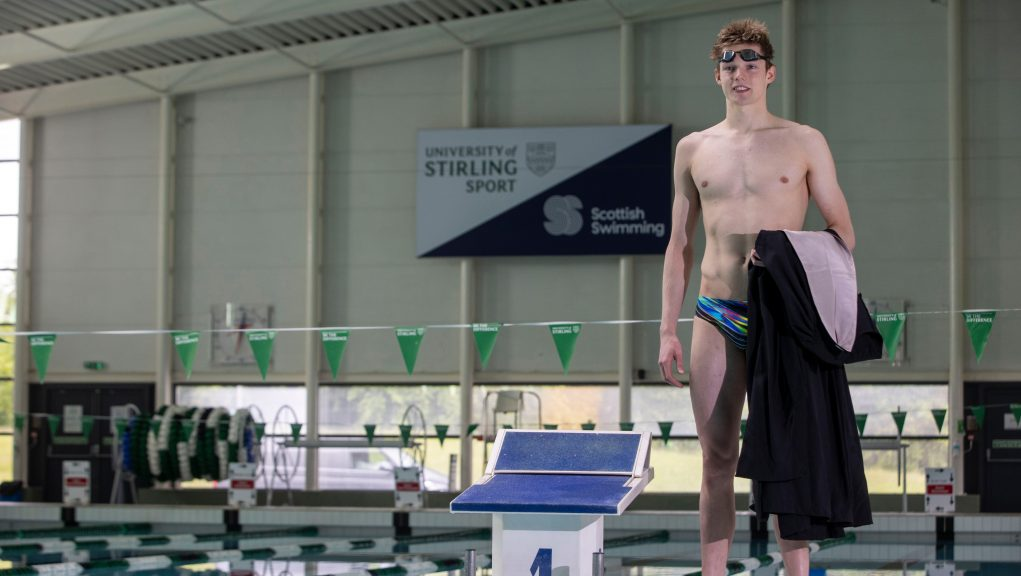 Scott is one of five University of Stirling swimmers heading to Tokyo.