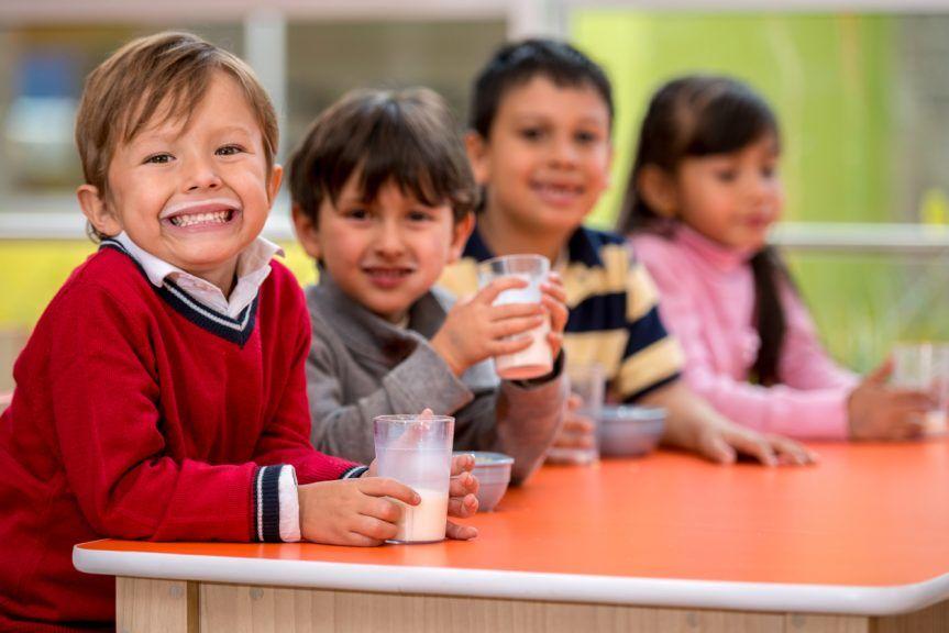 Healthy: Milk and snack scheme for pre-school children.