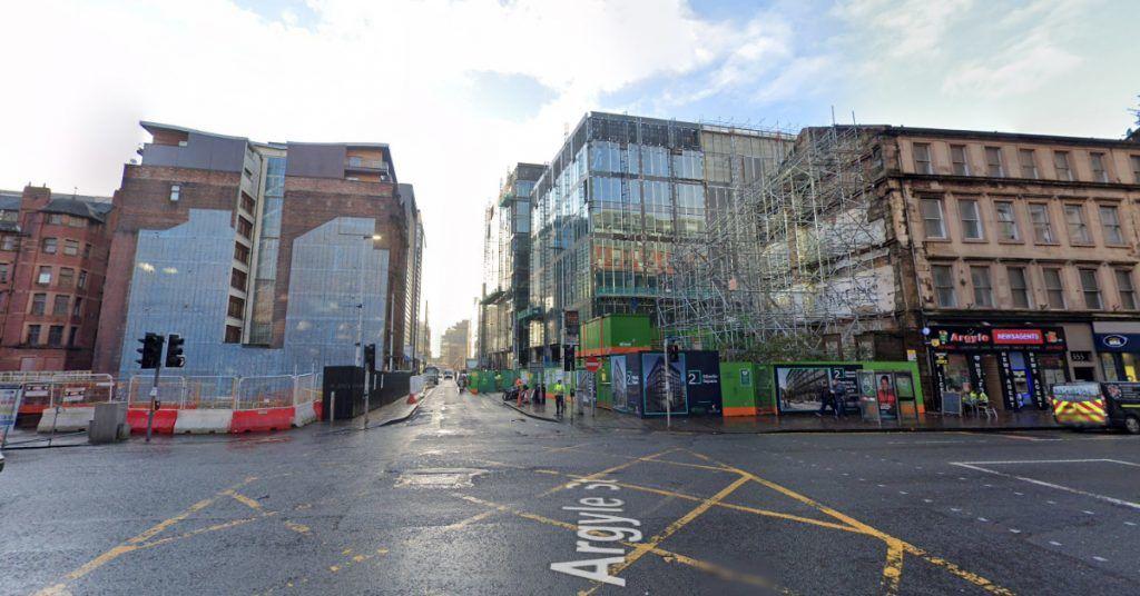Argyle Street and York Street in Glasgow.