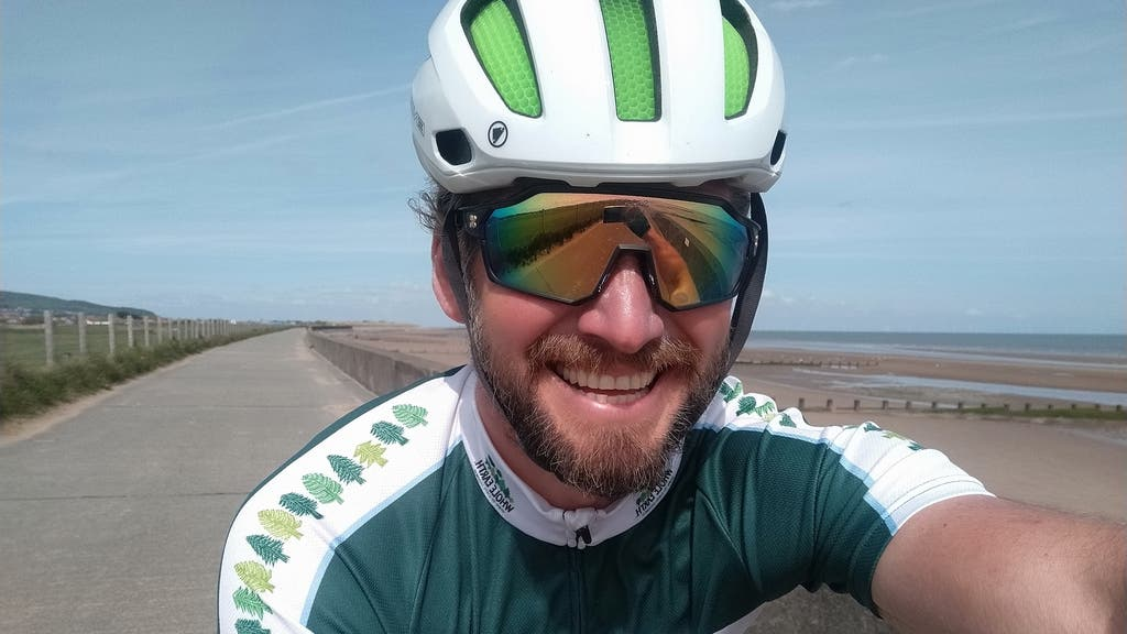 Superfan: Jamie Ramsay is cycling 10,000km in support of Team GB.