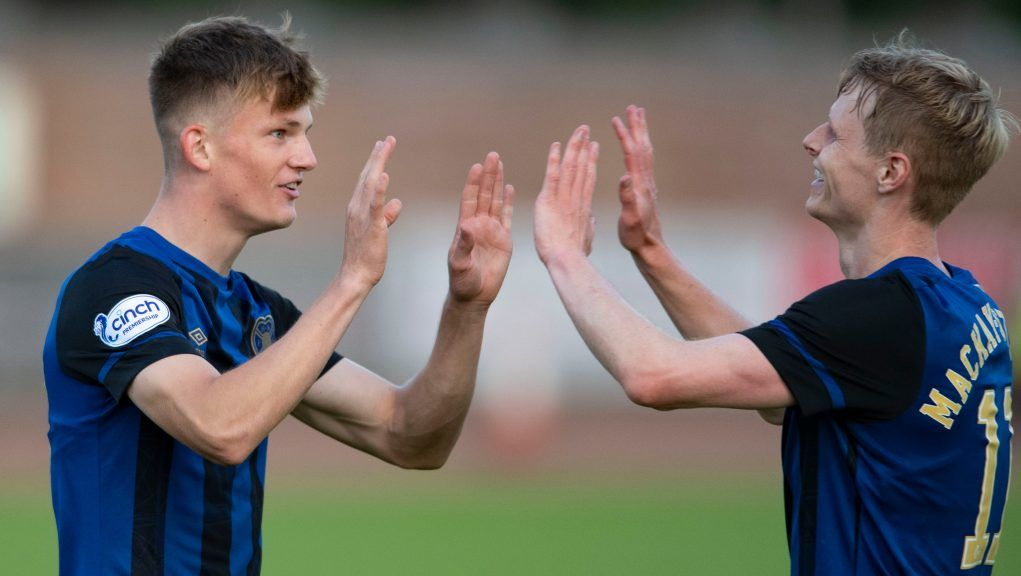 Finlay Pollock (left) scored his first Hearts goal.