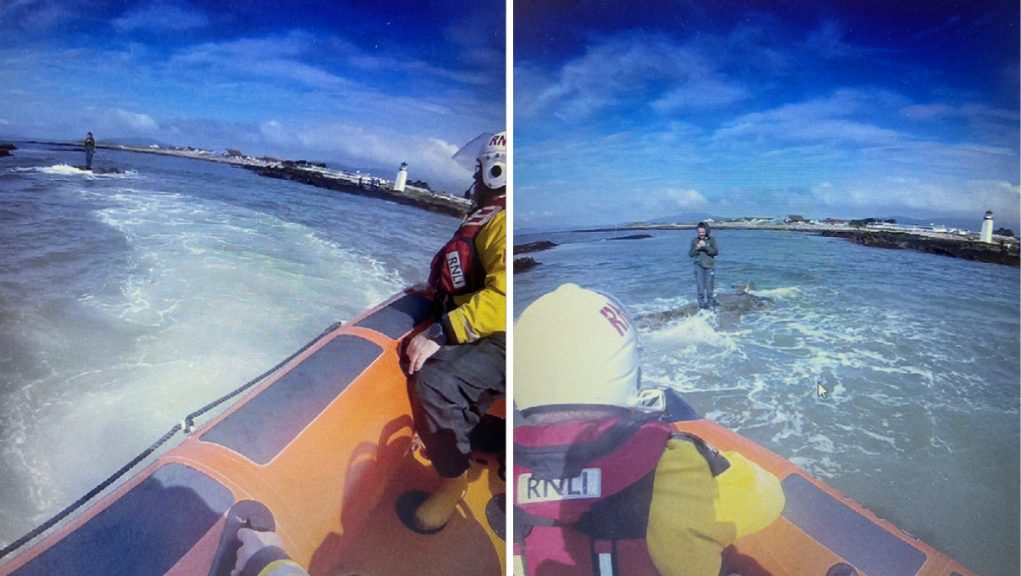 The Silloth RNLI crew helped the girl to safety and got her onto the lifeboat.