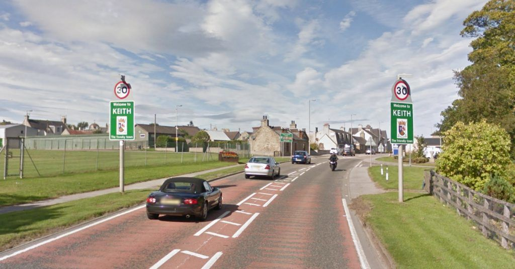 There were no other vehicles involved in the crash on the A96, Police Scotland said.
