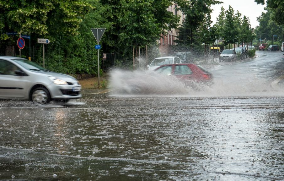 The Met Office said a yellow thunderstorm warning is in place for most of the country.
