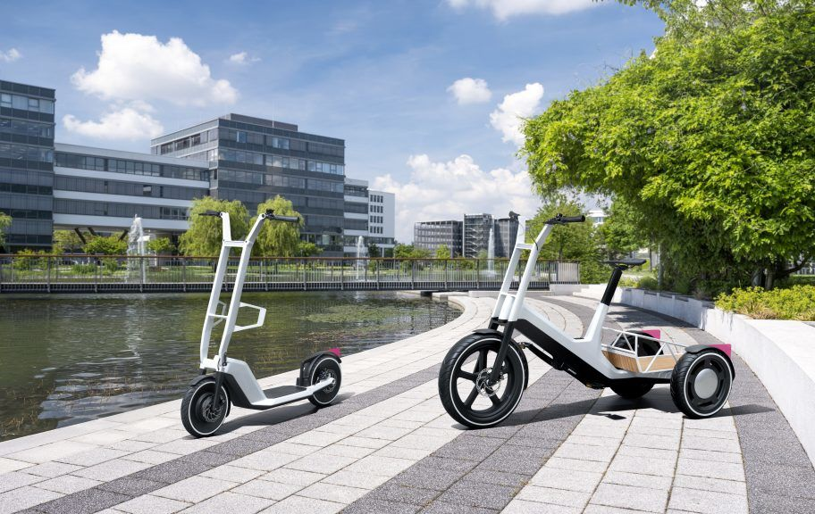 Concept Clever Commute (left), Concept Dynamic Cargo (right).