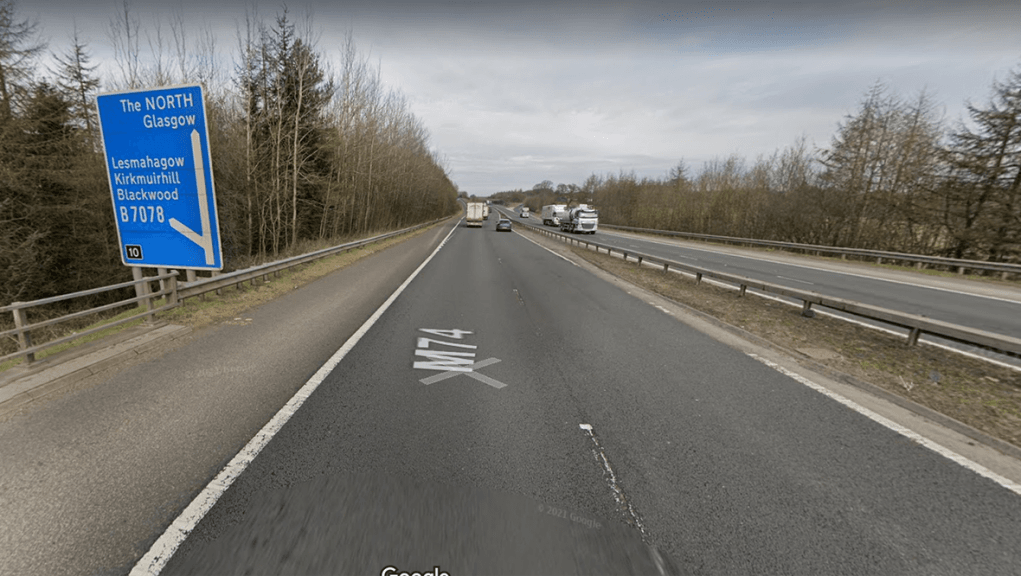 Crash happened on the M74 southbound near Lesmahagow.