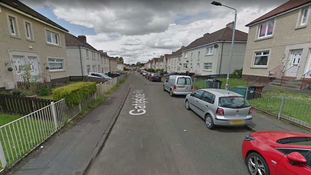Police attended incident on Gateside Road in Wishaw.