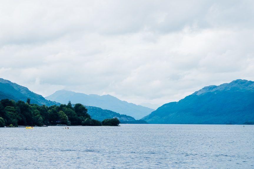 Rescue agencies are searching Loch Lomond.