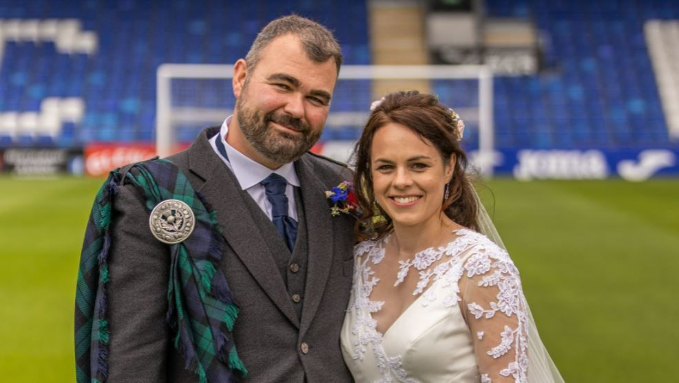 Kate Forbes married her fiance at a ceremony in Dingwall.