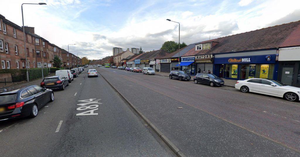 Dumbarton Road, near to the Scotfresh store in Scotstoun, Glasgow.