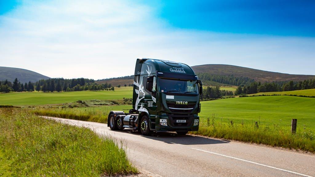 Glenfiddich: Delivery fleet will run on 'green biogas'.