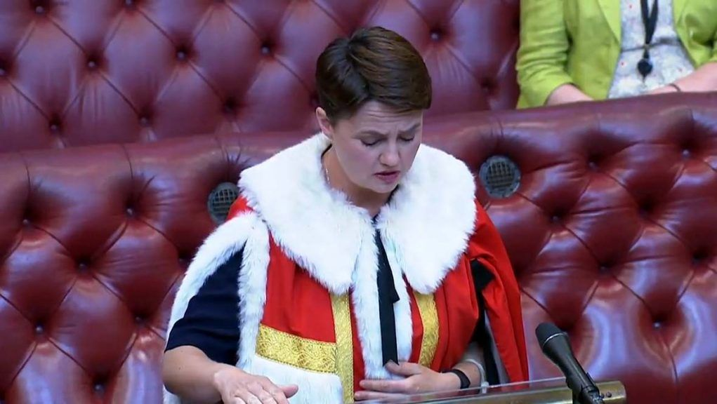 Former Scottish Conservatives leader Ruth Davidson took her seat in the Lords earlier this week.