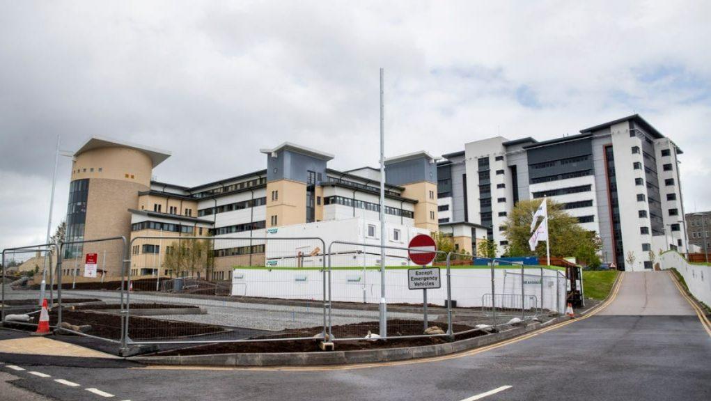 Hospital: Professor Caroline Hiscox said the current wave of the coronavirus pandemic had left staff 'exhausted'.