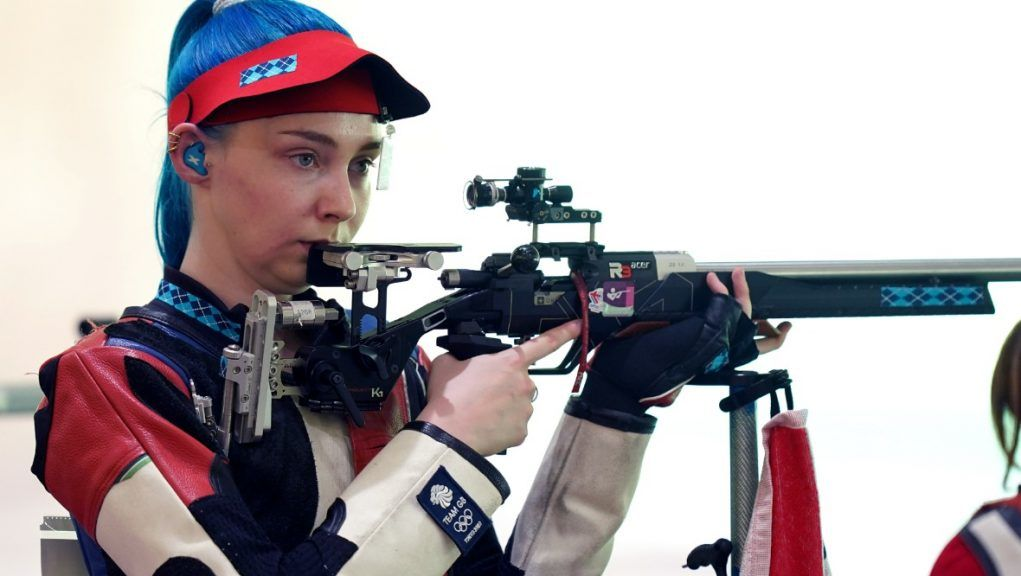 Shooter: Seonaid McIntosh at the Tokyo Olympic Games.