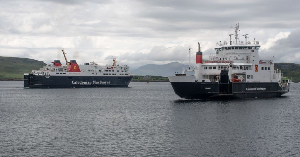MV Coruisk, which carries passengers back and forth from Oban to Mull, is out of operation.
