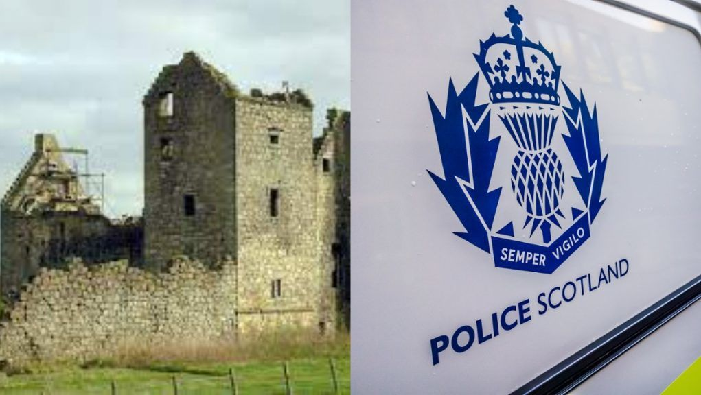 Police investigating theft of stones from Torwood Castle.
