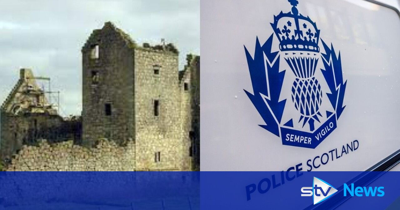 Large stones stolen from wall at ruined 16th century castle