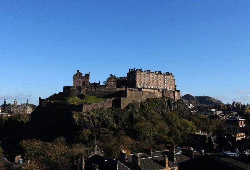 Edinburgh Castle has been voted top.