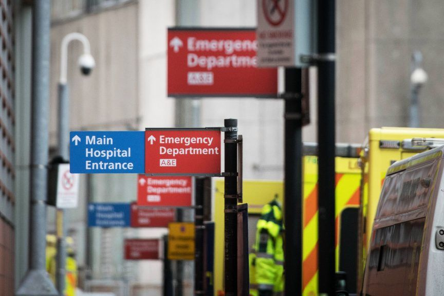 Highest percentage of A&E patients waiting longer than four hours since 2019.