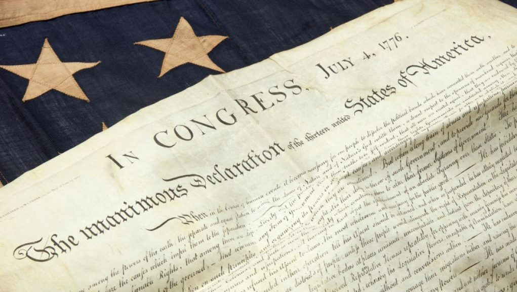 Declaration of Independence: A copy was discovered in an attic in Scotland.