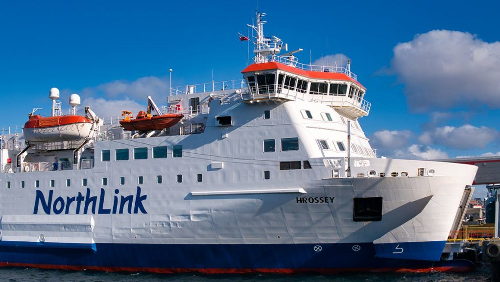 Crew on board the NorthLink ferry MV Hrossey assisted in the rescue operation.