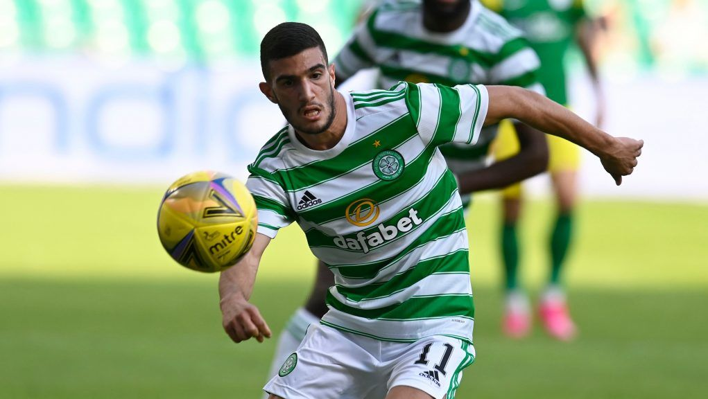 Liel Abada starts his first competitive game for Celtic.