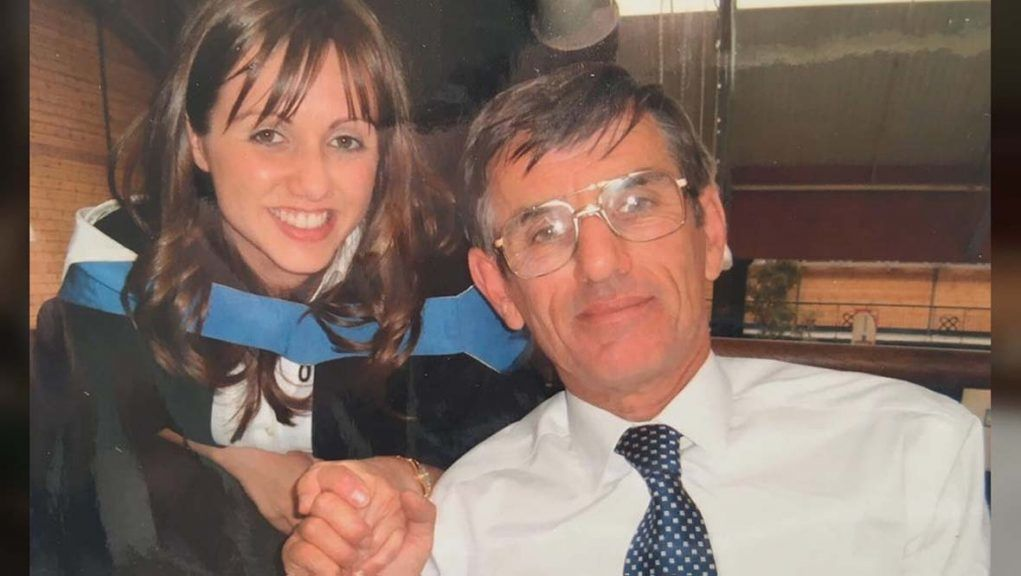 Claire Herriot has flown back to see her dad in hospital.