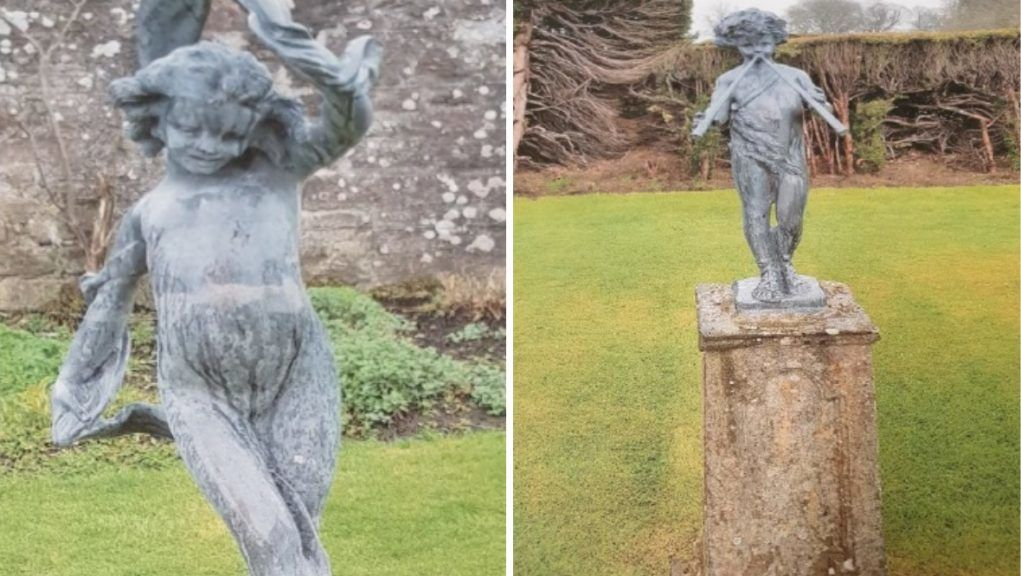 Each statue weighs more than 35kg and they are 'worth well into four figures'.