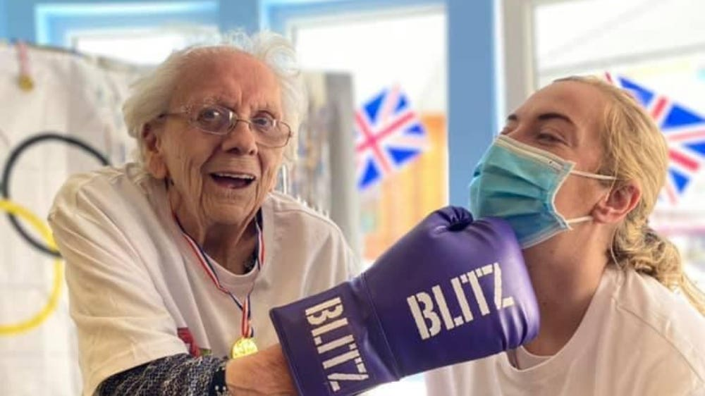 Boxing: Care home training for Olympics.