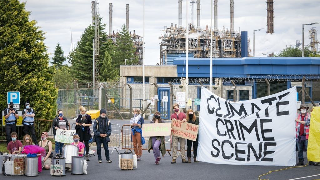 Climate Camp: More than 150 at protest.