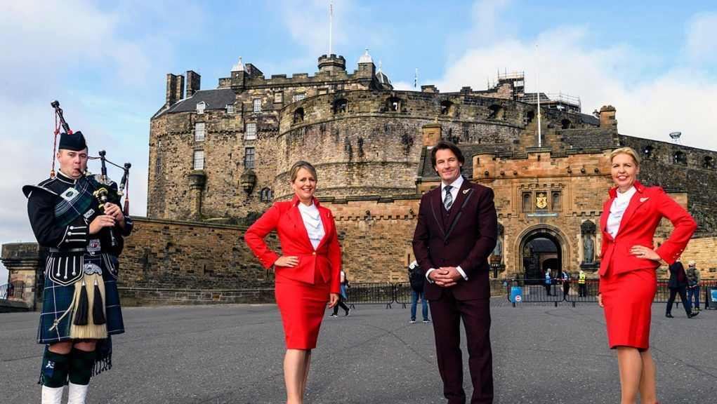 Virgin Atlantic is to operate international flights from Edinburgh for the first time.