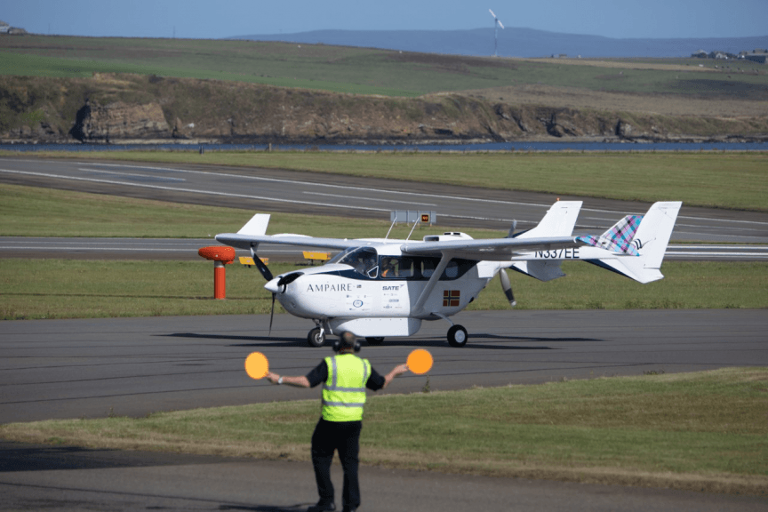 Aircraft: First of its type in Scotland.