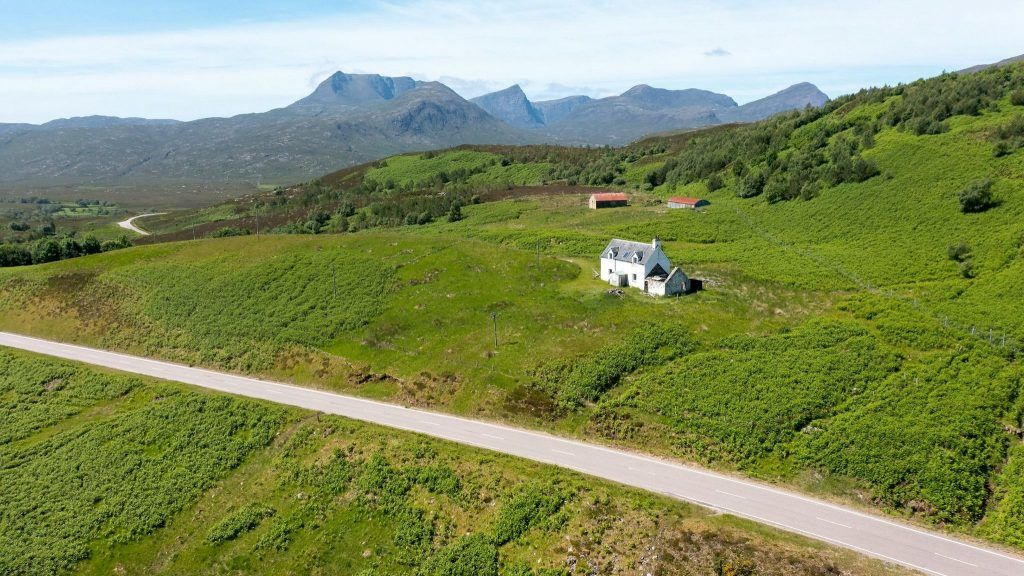 Remote: The offgrid cottage is on the popular North Coast 500 route.