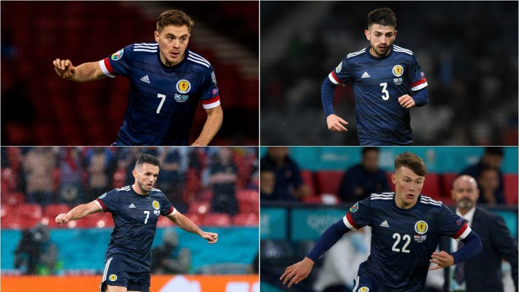 Forrest, Taylor, McGinn and Patterson all out of Denmark match.