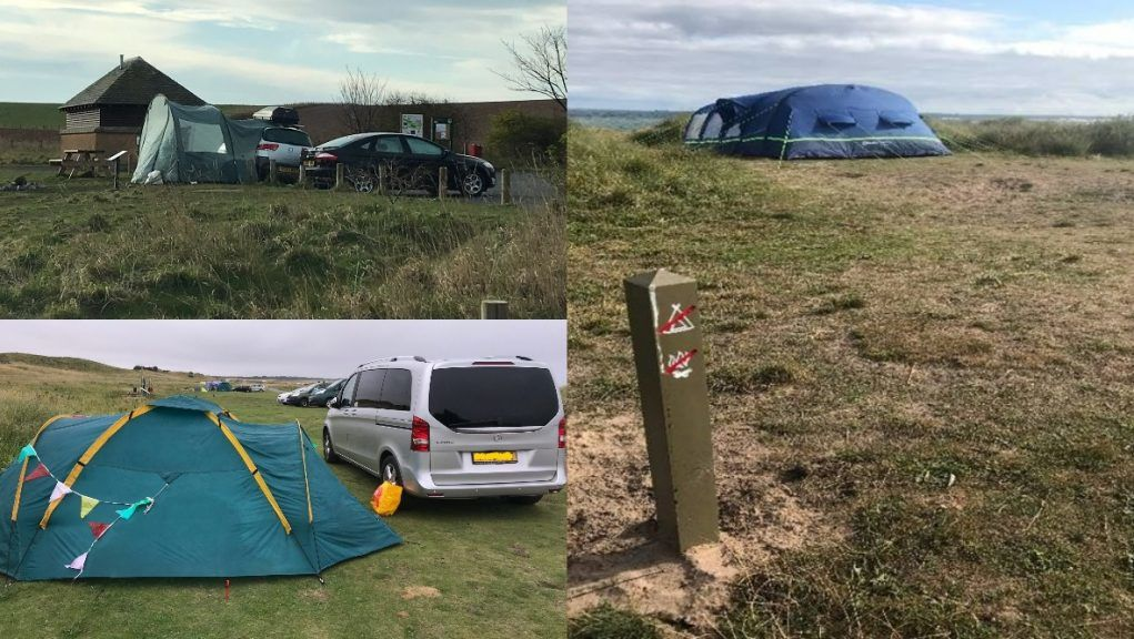 Camping: Concerns have been raised by countryside rangers in East Lothian.