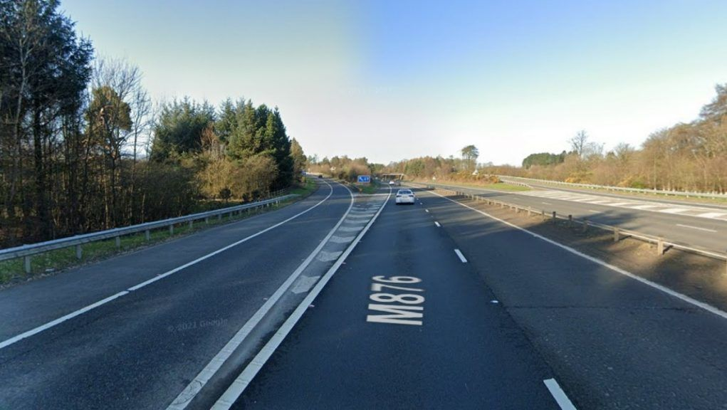 Motorway: The incident happened on the M876 on Wednesday morning.