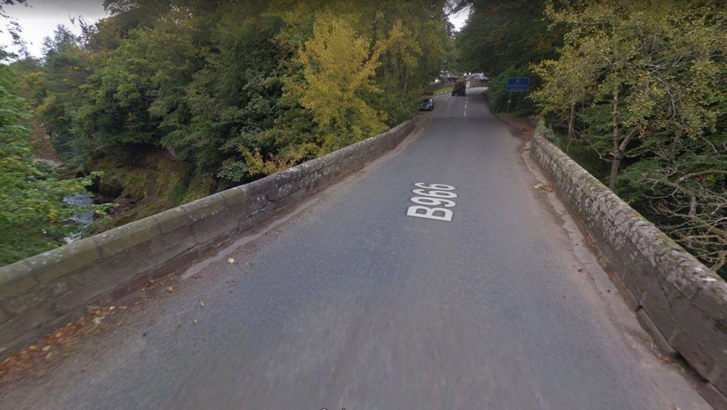 The Gannochy Bridge in Edzell is closed while emergency services attend incident.