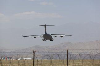 Kabul airport.