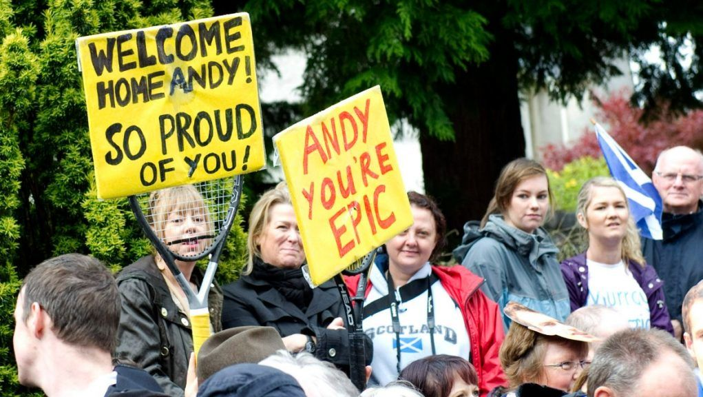Thousands took to the streets of Dunblane to welcome their hero home.