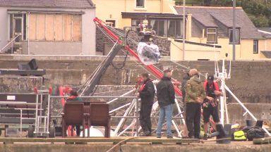 Filming of the Crown gets underway in Macduff.