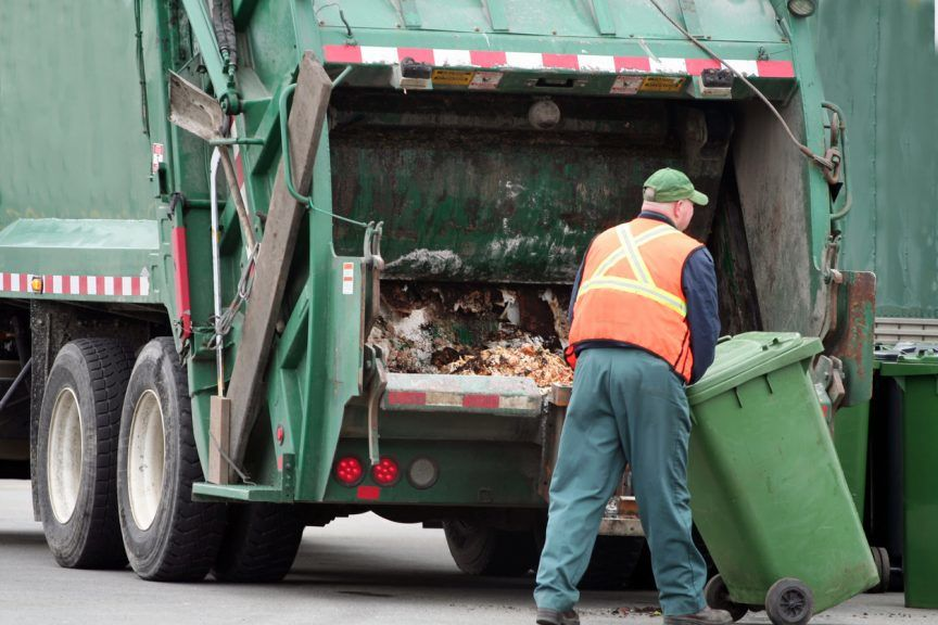 Bin collector: Workers advised to reject self-isolation exemption.
