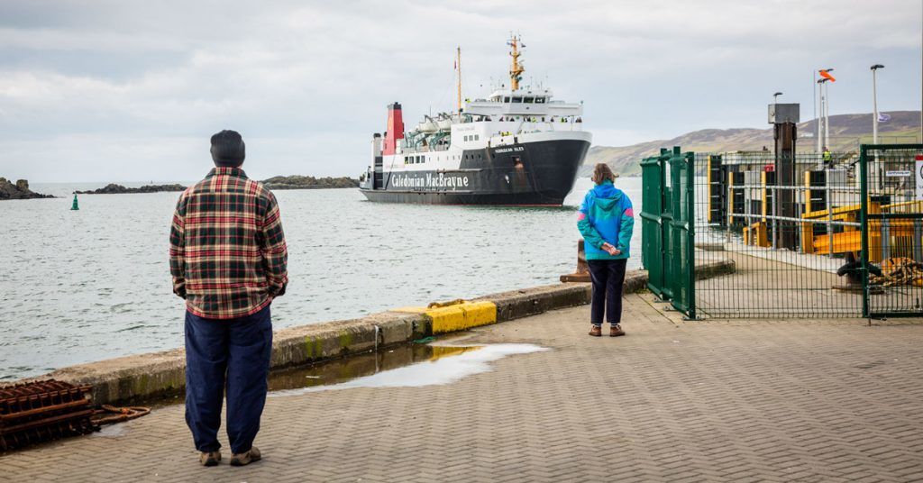 The Islay route is one of the busiest services for freight on the Clyde and Hebrides network.