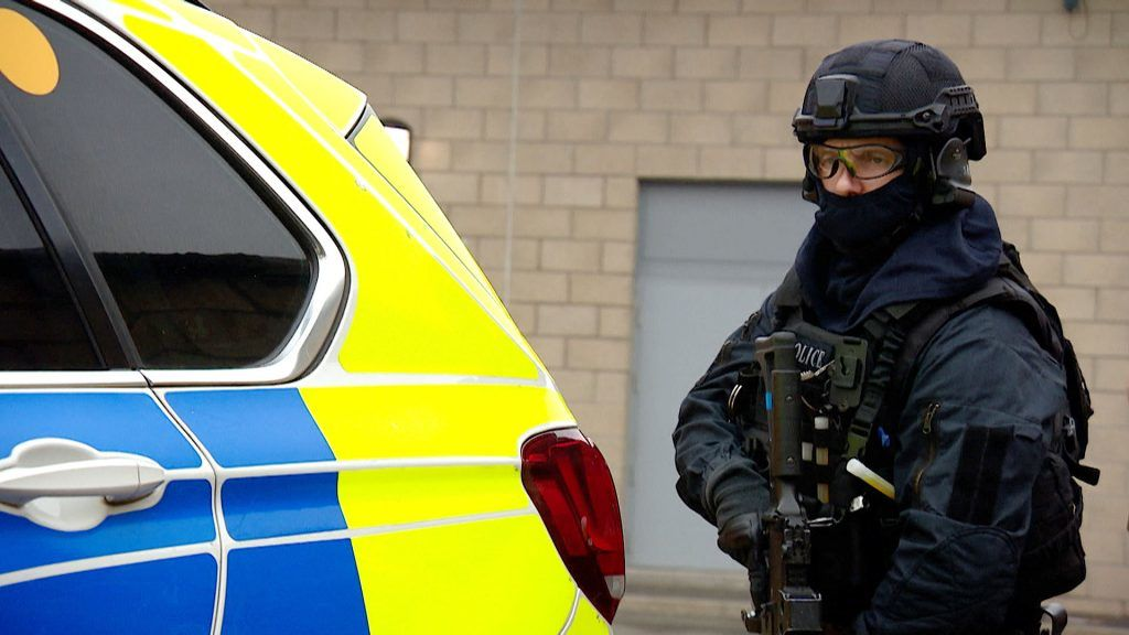 Hundreds of armed police officers have been training for COP26.